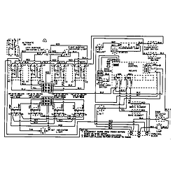 CRE9600ACL Range Wiring information Parts diagram