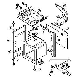 CRG9700AAW Range Body Parts diagram