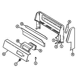 CRG9700AAW Range Control panel Parts diagram