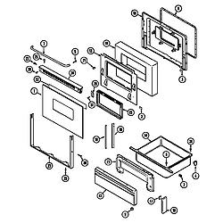 CRG9700AAW Range Door/drawer Parts diagram