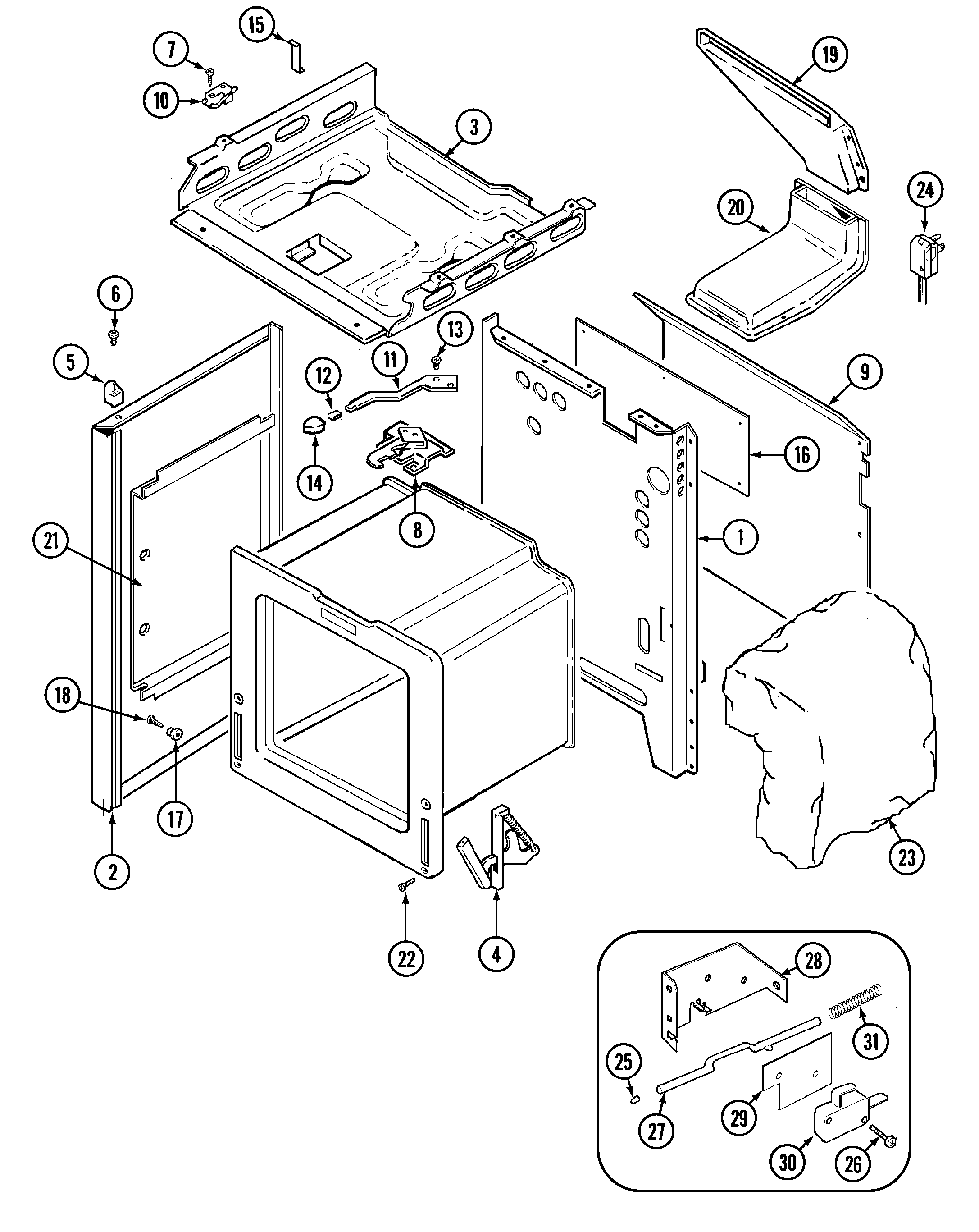 Maytag Crg9700cae Timer Stove Clocks And Appliance Timers Whirlpool Parts Schematic Range Body Diagram