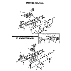 CT227N Electric Wall Oven Control panel Parts diagram