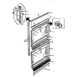CT227N Electric Wall Oven Front frame Parts diagram