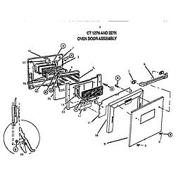 CT227N Electric Wall Oven Oven door Parts diagram