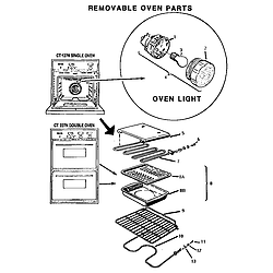 CT227N Electric Wall Oven Removable oven Parts diagram