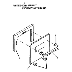 CT227N Electric Wall Oven White door assembly Parts diagram