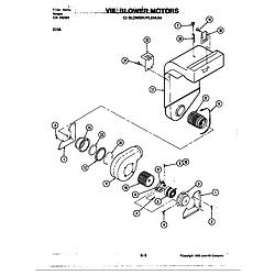 D156W Range Blower motor-blower/plenum (d156) Parts diagram