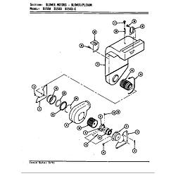 D156W Range Blower motor (blower/plenum d156b & w) (d156b) (d156w) Parts diagram