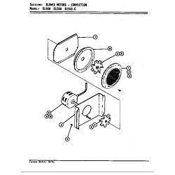 D156W Range Blower motor (convection d156b & d156w) (d156b) (d156w) Parts diagram