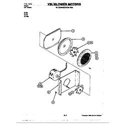 D156W Range Blower motor-convection fan (d156) Parts diagram