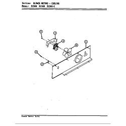 D156W Range Blower motor (cooling d156b & d156w) (d156b) (d156w) Parts diagram