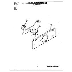 D156W Range Blower motor-cooling fan (d156) Parts diagram