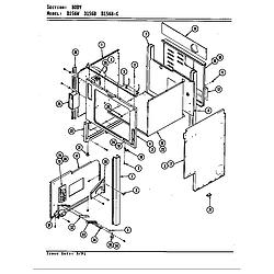 D156W Range Body (d156b & d156w) (d156b) (d156w) Parts diagram