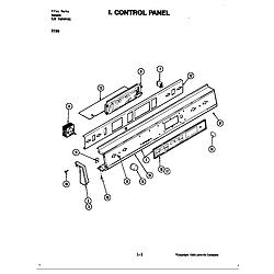D156W Range Control panel (d156) Parts diagram
