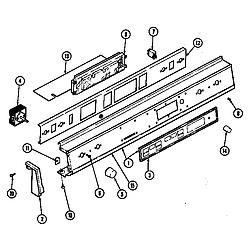 D156W Range Control panel (d156b, d156w) (d156b) (d156w) Parts diagram
