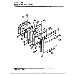 D156W Range Door (d156b & d156w) (d156b) (d156w) Parts diagram