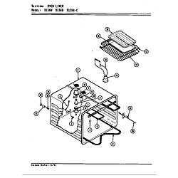 D156W Range Liner (d156b & d156w) (d156b) (d156w) Parts diagram