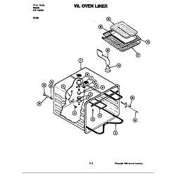 D156W Range Oven liner (d156) Parts diagram