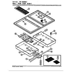 D156W Range Top assembly (d156b & d156w) (d156b) (d156w) Parts diagram