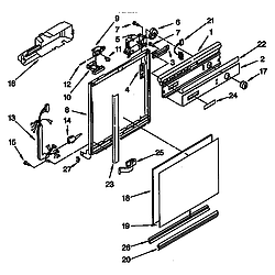 DU8950XY2 Dishwasher Frame and console Parts diagram
