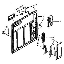 DU8950XY2 Dishwasher Inner door Parts diagram