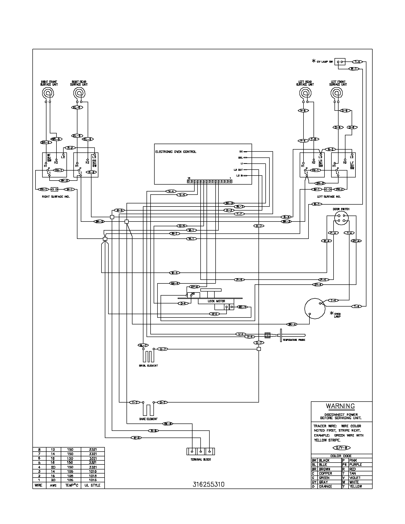 wiring diagram parts frigidaire fef352asf electric range timer stove clocks and  at suagrazia.org
