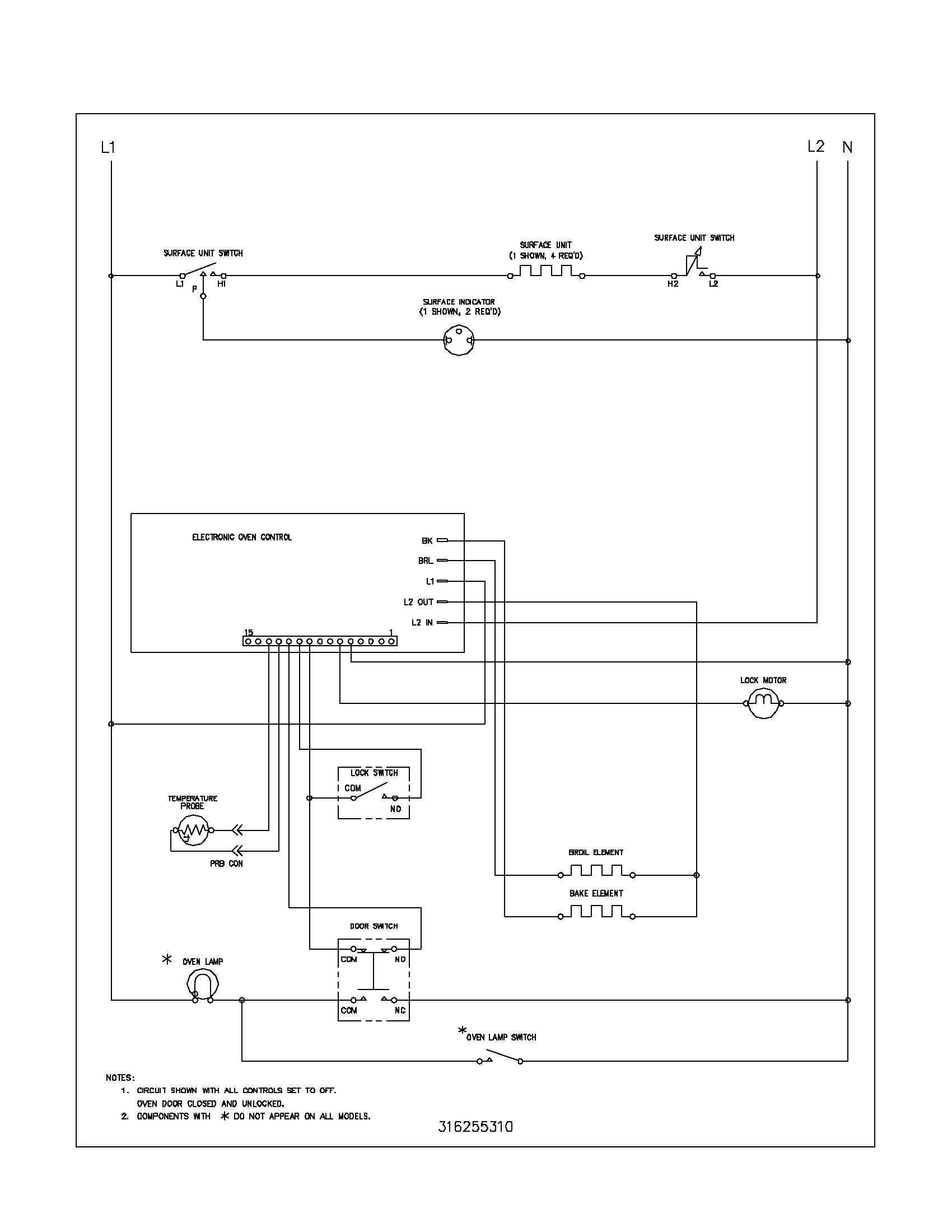 wiring schematic parts frigidaire fef352asf electric range timer stove clocks and Frigidaire Oven Wiring Diagram at bakdesigns.co