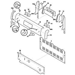 FEF352AUG Electric Range Backguard Parts diagram