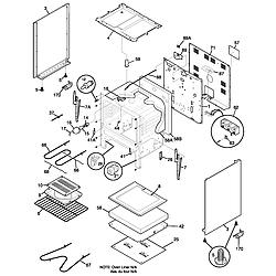 FEF352AUG Electric Range Body Parts diagram