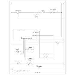 FEF352AUG Electric Range Wiring schematic Parts diagram