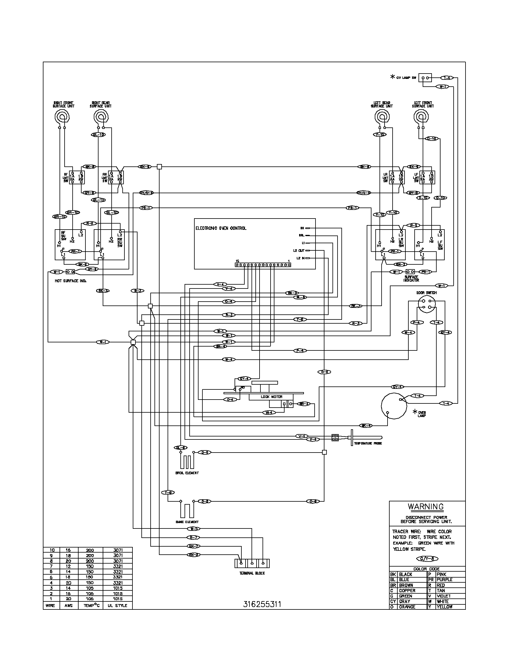 wiring diagram parts frigidaire fef366ccb electric range timer stove clocks and Thermador Cooktop Wiring-Diagram at edmiracle.co