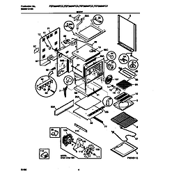 FEF389WFCD Electric Range Body Parts diagram