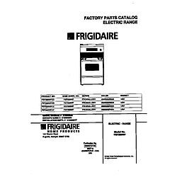 FEF389WFCD Electric Range Cover Parts diagram