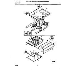 FEF389WFCD Electric Range Top/drawer Parts diagram