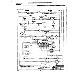 FEF389WFCD Electric Range Wiring diagram Parts diagram