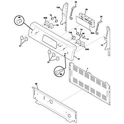 FEFL88ACC Electric Range Backguard Parts diagram