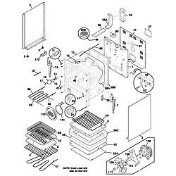 FEFL88ACC Electric Range Body Parts diagram