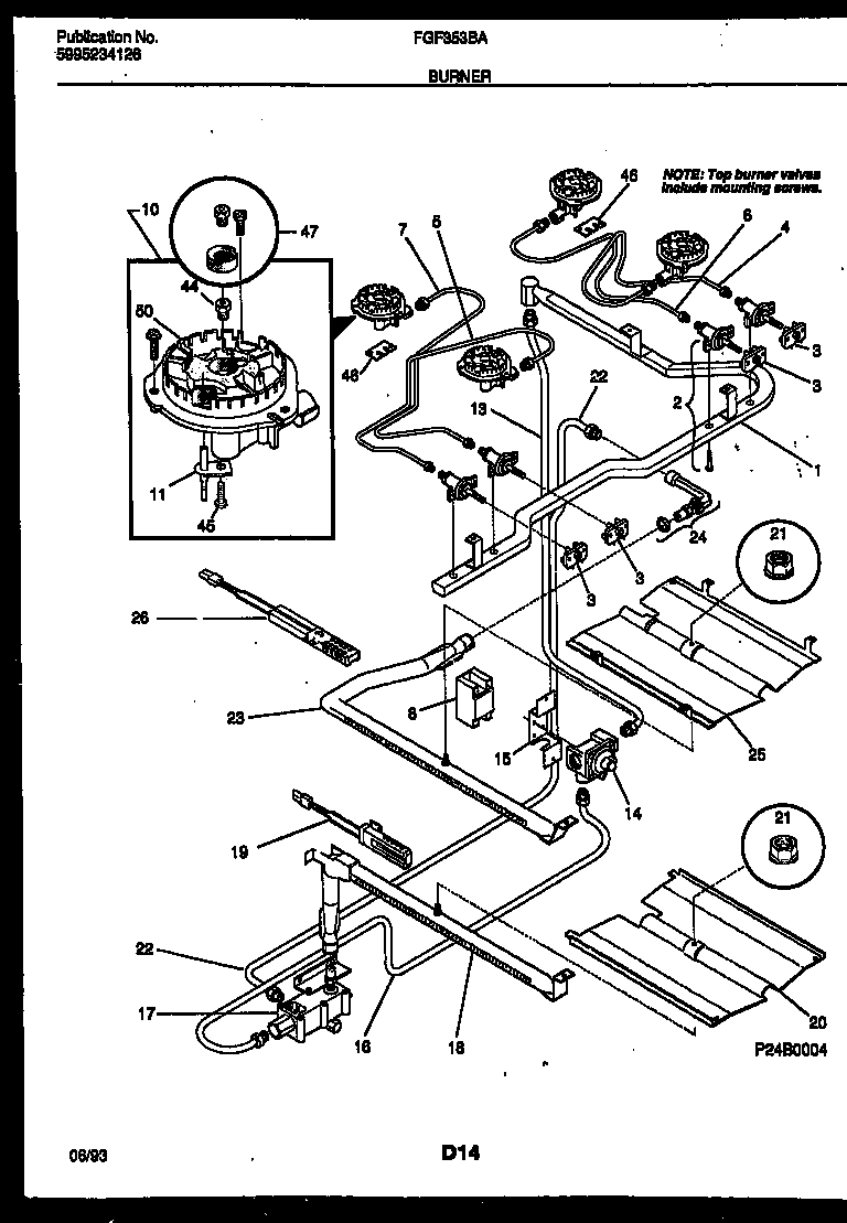 burner manifold and gas control parts frigidaire fgf353bawa range gas timer stove clocks and Frigidaire Oven Wiring Diagram at bakdesigns.co