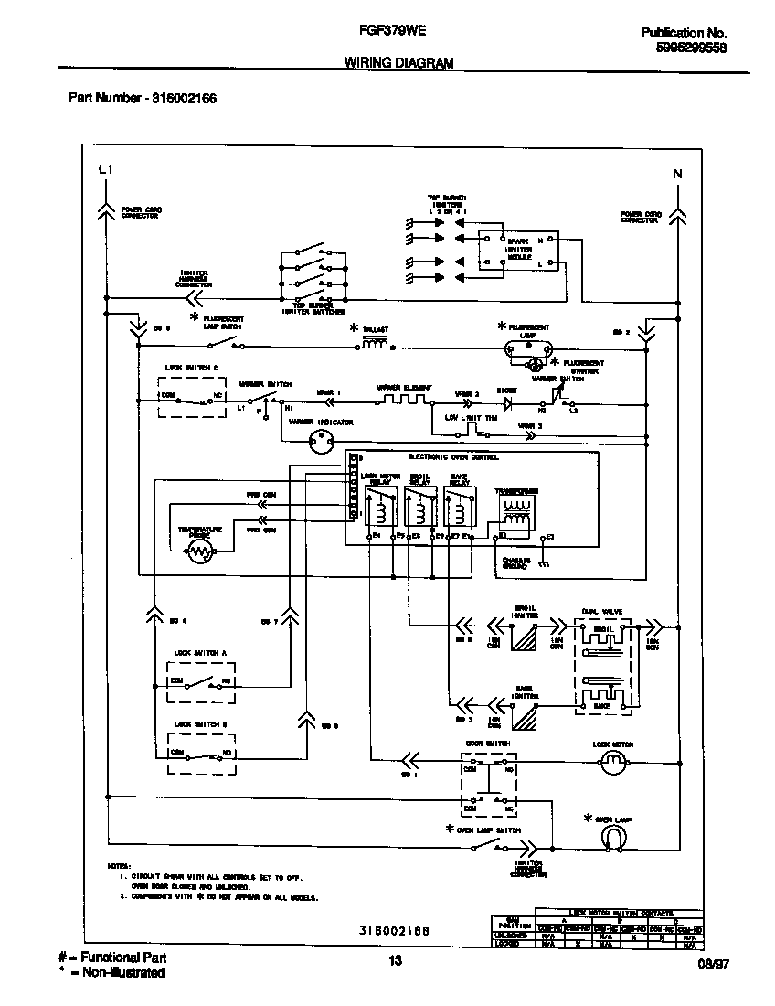 wiring diagram parts frigidaire fgf379wecf gas range timer stove clocks and appliance Frigidaire Refrigerator Troubleshooting at n-0.co