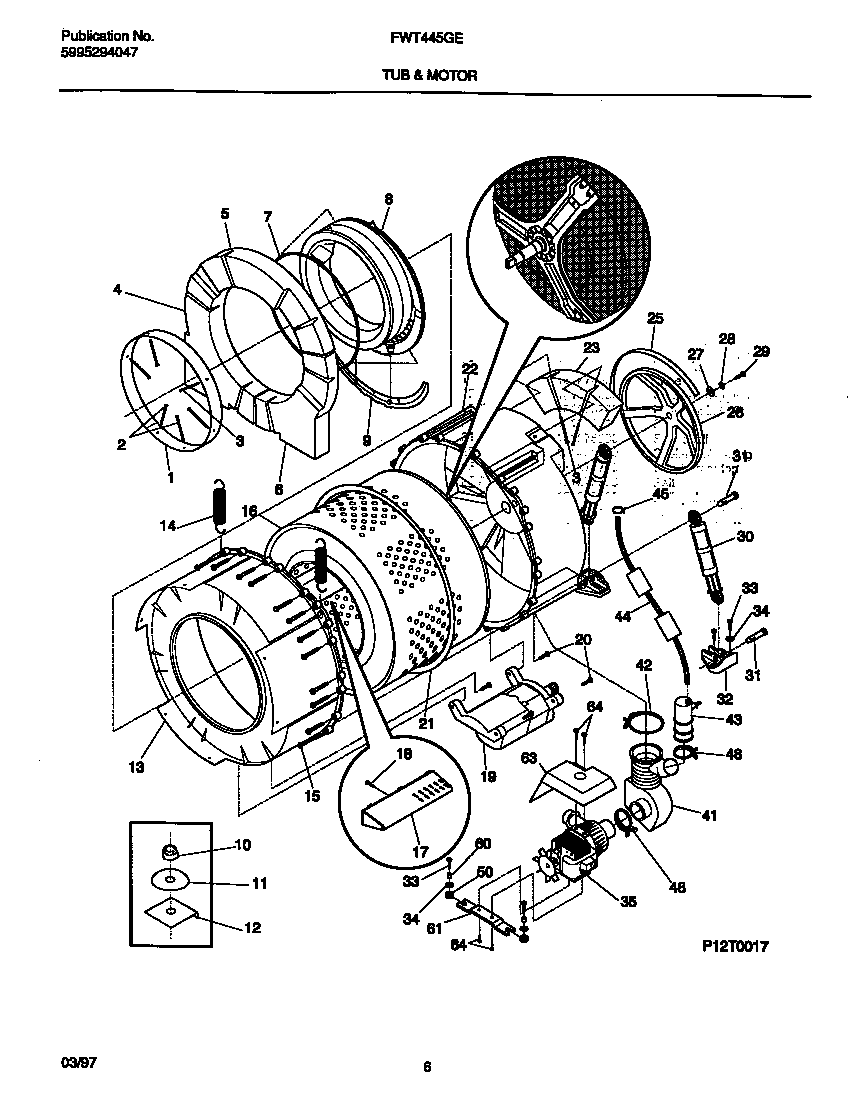 tub motor parts frigidaire fwt445ges1 washer timer stove clocks and appliance timers whirlpool washer motor wiring diagram at pacquiaovsvargaslive.co