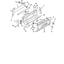 GLP84800 Free Standing Electric Range Control panel Parts diagram