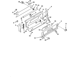 GLP85800 Free Standing Electric Range Control panel Parts diagram