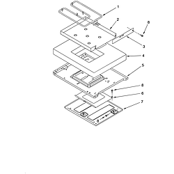 GLP85800 Free Standing Electric Range Hidden bake Parts diagram