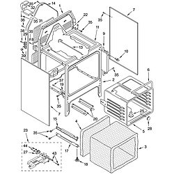 GLP85800 Free Standing Electric Range Oven chassis Parts diagram