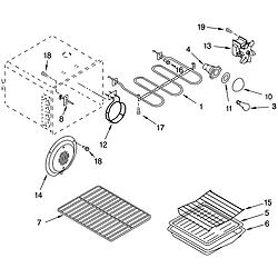 GLP85800 Free Standing Electric Range Oven Parts diagram