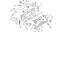 GLSP84900 Free Standing - Electric Control panel Parts diagram