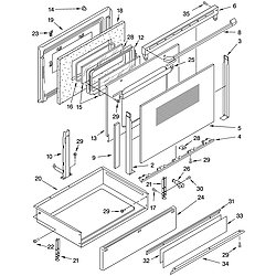GLSP84900 Free Standing - Electric Door and drawer Parts diagram