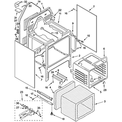 GLSP84900 Free Standing - Electric Oven chassis Parts diagram