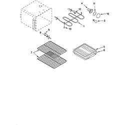 GLSP84900 Free Standing - Electric Oven Parts diagram