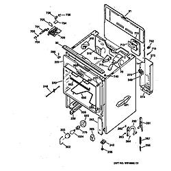 JBP65GS1AD Electric Range Body Parts diagram